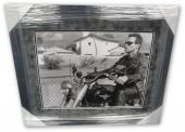 Arnold Schwarzenegger Autographed 16X20 Photo The Terminator Framed PSA