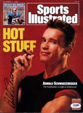 Arnold Schwarzenegger Autographed Signed SI Magazine PSA/DNA #X23288