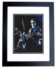 Arnold Schwarzenegger Autographed TERMINATOR 8x10 Photo BLACK CUSTOM FRAME