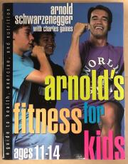 Arnold Schwarzenegger Charles Gaines Signed Exercise Hardcover Book Jsa Letter