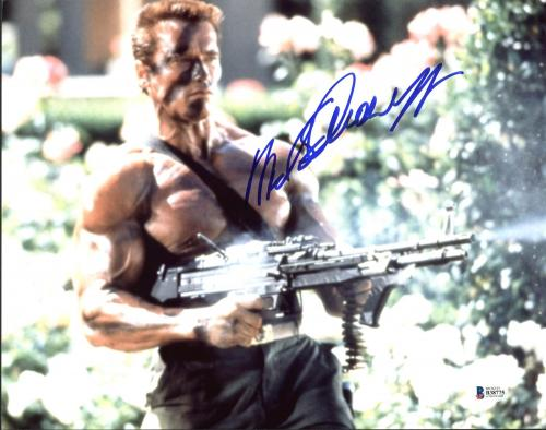 Arnold Schwarzenegger Commando Signed 11X14 Photo BAS #B38775