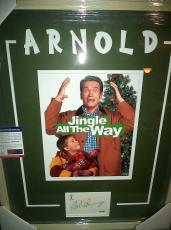 "Arnold Schwarzenegger ""jingle All The Way"" Signed Auto Matted Framed Psa/dna Coa"