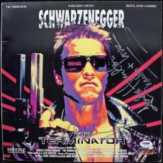 Arnold Schwarzenegger & Linda Hamilton Signed Laserdisc Cover Psa/dna #j00728