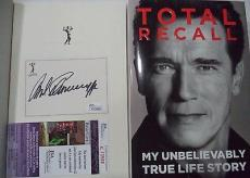 Arnold Schwarzenegger Movie Legend Signed Autograph Total Recall Book Jsa Coa Z