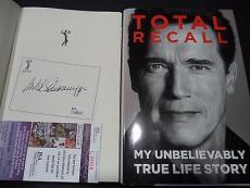 Arnold Schwarzenegger Movie Legend Signed Autograph Total Recall Book Jsa Coa B