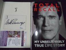 Arnold Schwarzenegger Movie Legend Signed Autograph Total Recall Book Jsa Coa C