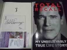 Arnold Schwarzenegger Movie Legend Signed Autograph Total Recall Book Jsa Coa D