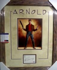 Arnold Schwarzenegger Movie Signed Autographed Double Matted Framed Psa/dna Coa