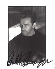 "ARNOLD  SCHWARZENEGGER - Movies Include ""THE TERMINATOR"", ""PREDATOR"", and ""KINDERGARTEN COP"" Signed 8x10 B/W Photo"