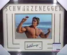 Arnold Schwarzenegger Mr Olympia Signed 8x10 Psa/dna Coa Double Matted & Framed
