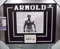 Arnold Schwarzenegger Mr Olympia Signed Auto 8x10 Jsa Coa Double Matted Framed B