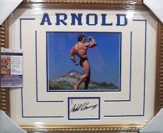Arnold Schwarzenegger Mr Olympia Signed Auto 8x10 Jsa Coa Double Matted Framed C