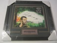Arnold Schwarzenegger Rare Signed Autographed Framed Predator Canvas Jsa Coa