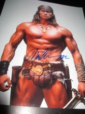 Arnold Schwarzenegger Signed 11x14 Photo Conan Barbarian In Person Coa Auto Ny D