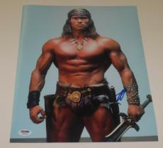 Arnold Schwarzenegger Signed 11x14 Photo Conan The Barbarian Autograph Psa Dna A