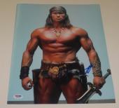 Arnold Schwarzenegger Signed 11x14 Photo Conan The Barbarian Autograph Psa Dna A