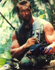 Arnold Schwarzenegger SIGNED 11x14 Photo Dutch Predator PSA/DNA AUTOGRAPHED RARE