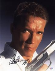 Arnold Schwarzenegger SIGNED 11x14 Photo Harry True Lies PSA/DNA AUTOGRAPHED
