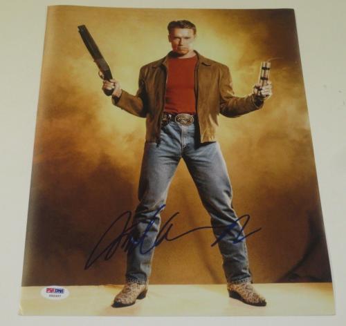 Arnold Schwarzenegger Signed 11x14 Photo Last Action Hero Autograph Psa/dna Coa