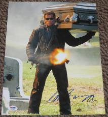 Arnold Schwarzenegger Signed 11x14 Photo The Terminator Autograph Psa/dna X57960