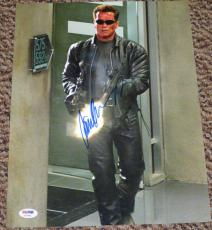 Arnold Schwarzenegger Signed 11x14 Photo The Terminator Autograph Psa/dna X57961