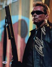 Arnold Schwarzenegger SIGNED 11x14 Photo The Terminator PSA/DNA AUTOGRAPHED RARE