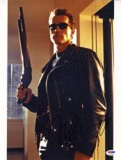 Arnold Schwarzenegger SIGNED 11x14 Photo The Terminator PSA/DNA AUTOGRAPHED