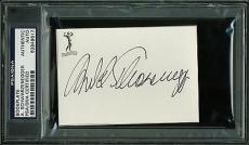 Arnold Schwarzenegger Signed 2.75x4 Bookplate PSA/DNA Slabbed