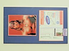 ARNOLD SCHWARZENEGGER SIGNED 8.5x11 SAMPLE VOTER BALLOT MATTED w 8x10 PHOTO~ JSA