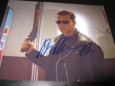 Arnold Schwarzenegger Signed 8x10 Photo Terminator Action Shot Rare Ny Coa Ny X1