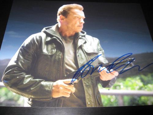 Arnold Schwarzenegger Signed 8x10 Photo Terminator Genisys Rare In Person Ny E