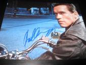 Arnold Schwarzenegger Signed 8x10 Photo Terminator Motorcycle Shot In Person X2