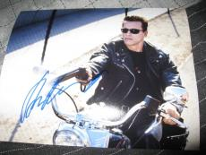 ARNOLD SCHWARZENEGGER SIGNED AUTOGRAPH 8x10 PHOTO TERMINATOR IN PERSON PROOF F