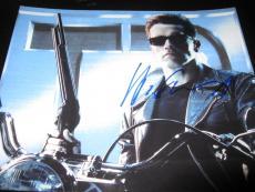 ARNOLD SCHWARZENEGGER SIGNED AUTOGRAPH 8x10 PHOTO TERMINATOR PROMO COA RARE NY D