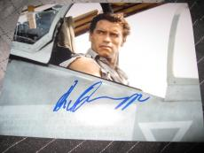 ARNOLD SCHWARZENEGGER SIGNED AUTOGRAPH 8x10 PHOTO TRUE LIES IN PERSON PROOF E
