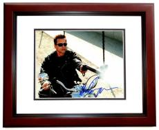 Arnold Schwarzenegger Signed - Autographed TERMINATOR 11x14 inch Photo MAHOGANY CUSTOM FRAME - Guaranteed to pass PSA or JSA