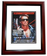 Arnold Schwarzenegger Signed - Autographed TERMINATOR 11x14 inch Photo MAHOGANY CUSTOM FRAME - Guaranteed to pass PSA or JSA