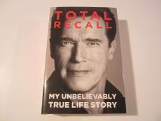 Arnold Schwarzenegger Signed Autographed Total Recall Hard Cover Book JSA COA