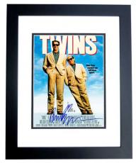 Arnold Schwarzenegger Signed - Autographed TWINS 11x14 inch Photo BLACK CUSTOM FRAME - Guaranteed to pass PSA or JSA - Mini Movie Poster