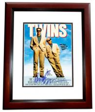 Arnold Schwarzenegger Signed - Autographed TWINS 11x14 inch Photo MAHOGANY CUSTOM FRAME - Guaranteed to pass PSA or JSA - Mini Movie Poster