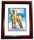 Arnold Schwarzenegger Signed - Autographed TWINS 11x14 inch Photo MAHOGANY CUSTOM FRAME - Guaranteed to pass PSA or JSA - Mini Movie Poster