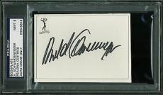 Arnold Schwarzenegger Signed Bookplate w/ Graded Mint 9 Autograph! PSA Slabbed