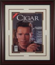 Arnold Schwarzenegger Signed Cigar Aficionado Framed Display