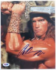 Arnold Schwarzenegger Signed Conan Barbarian 8x10 Photo (PSA/DNA) #K03402