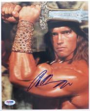 Arnold Schwarzenegger Signed Conan Barbarian 8x10 Photo (PSA/DNA) #K03402