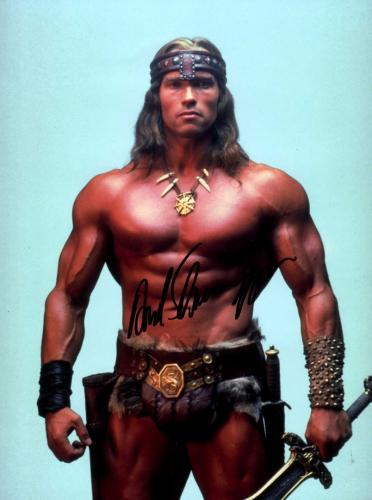 Arnold Schwarzenegger Signed Conan The Barbarian 12x16 Poster Photo UACC RD AFTA