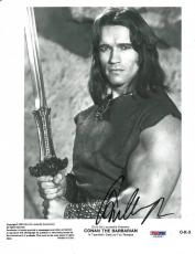 Arnold Schwarzenegger Signed Conan The Barbarian 8x10 Photo PSA/DNA #U26987