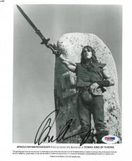 Arnold Schwarzenegger Signed Conan The Barbarian 8x10 Photo PSA/DNA #U26988