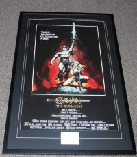 Arnold Schwarzenegger Signed Framed 27x41 Conan Movie Poster Display JSA