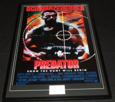 Arnold Schwarzenegger Signed Framed 27x41 Predator Movie Poster Display JSA